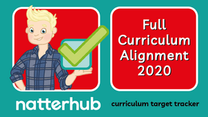 Natterhub teacher character holding the RSE curriculum logo with a green tick on a teal and pink background.
